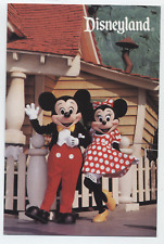 Disneyland Park Mickey Mouse Minnie Toontown Costume Character Mascot Postcard
