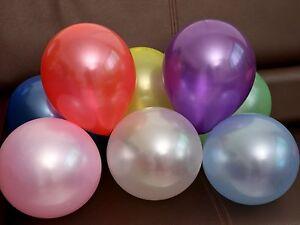 "100Pcs 10"" Mixed Color Pearl Latex Balloons Celebration Party Wedding Birthday"
