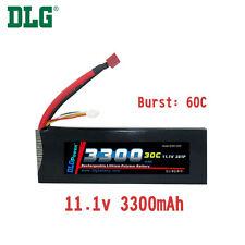 Genuine DLG RC Battery 11.1V 3S 30C 3300mAh Burst 60C Li-Po LiPo Dean's T plug