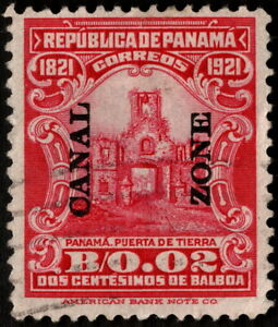 Canal Zone - 1921 - 2 Cents Carmine Panama Overprinted Issue #61 F-VF