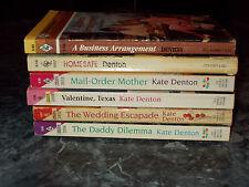 Harlequin Romance Kate Denton  lot of 6 contemporary romance paperbacks