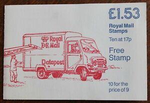 "GB Special Offer Booklet - £1.53 Datapost – 10 x 17p ""D"" Stamps UM (MNH) (Se1)"