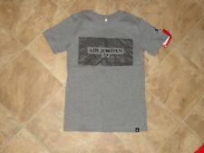 Boys Jordan Gray/Black Short Sleeve Shirt Size S 8-10 NWT
