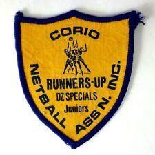 CORIO NETBALL ASSN.INC Runners-Up DZ Specials JUNIORS Sports Sew On Badge Patch