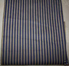STOCK n. 3 Scampolo Tessuto ecrù blu Cotone Stoffa Arredo Abbigliamento