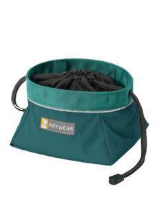NEW Ruffwear Waterproof Collapsible Dog Food Bowl Packable In ORANGE LARGE