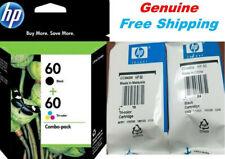 Genuine HP 60 Black /Tri-color Ink Cartridges combo-HP2560 C4670 F4480 Printer