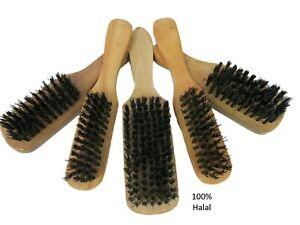 Beard Hair Brush 100% Halal Vegan Men's Stiff Animal free Bristle  - 3 Sizes