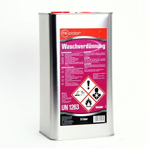 Waschverdünnung 5 L Verdünnung Reiniger von Recolor für Autolack WV5000