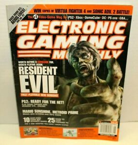 EGM Electronic Gaming Monthly May 2002 Issue 154 Resident Evil Mario Sunshine