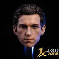 Free Ship JXtoys 1/6 Tom Holland HEADPLAY SpiderMan head sculpt for hottoys body