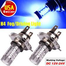 2x High Power 80W Blue H4 9003 HB2 LED Fog Bulb Daytime Running Light
