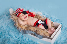 Girl Boy Crochet Knit Costume  Newborn Baby Photo Photography Prop Hat & Trouser