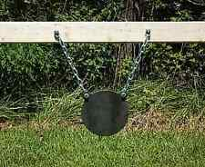 AR500 8 Inch Diameter Gong Target With Hanging Chain Kit - 3/8 Inch Thick AR500
