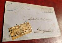 Faltbrief Norddeutscher Postbezirk 1/2 Groschen MeF 1868 Crefeld - Langenberg