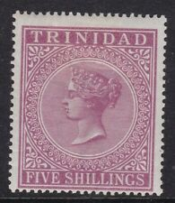 TRINIDAD 1894 5s. MAROON, FRESH MINT, CAT £55