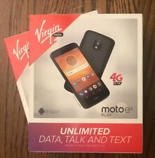 LOT OF 2 BRAND NEW Virgin Mobile Moto e5 PLAY 4G LTE Android Smartphones