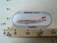 STICKER,DECAL MARTINAIR HOLLAND A310 C AIRPLANE VLIEGTUIG