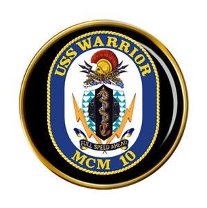 Uss Warrior (MCM-10) Anstecker Abzeichen