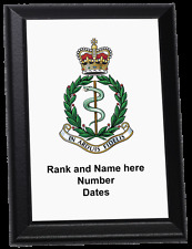 Personalised Wall Plaque - Royal Army Medical Corps, RAMC
