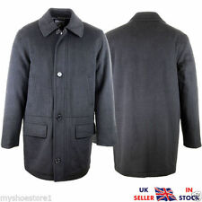 Unbranded Button Collared Long Coats & Jackets for Men
