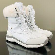 UGG Womens Size 5 Adirondack III Patent Snow Winter White Boots 1098532 New