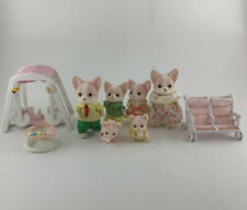 Calico Critters Sylvanian Families Chihuahua Dogs + Babies Twins + Accesories