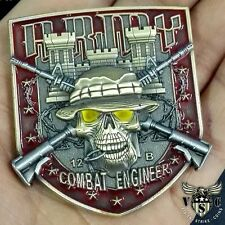 "ARMY COMBAT ENGINEER 12-B MOS 2"" CHALLENGE COIN"