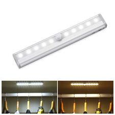 Wireless Battery Powered PIR Motion Sensor LED Night Light Lamp Wall Wardrobe 5V