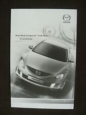 Mazda 6 - Original Zubehör Preisliste - Prospekt Brochure 04.2008