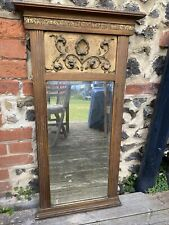 More details for antique georgian gilt-framed pier mirror overmantle wall mirror
