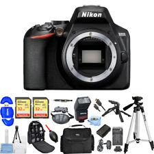 Nikon D3500 DSLR Camera (Body Only) Top Value Bundle + 64GB + EXT BATT + Flash