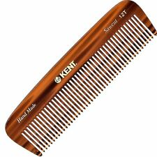 """Kent 12T 5"""" Handmade Comb Medium Size for Thick Coarse Hair. Saw-cut"""