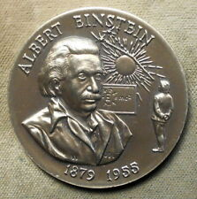 New ListingAlbert Einstein, 1879 -1955 (Bust) / Eagle, 9 Lines Of Facts. Sterling silver