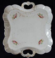 Plat ancien / Serviteur Porcelaine de Limoges ou Paris (XIXè)
