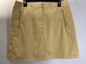 "Tail Tech Golf Skort, Gold Beige, 4 Pockets,  Ladies 12, Waist 34"", Length 18"""