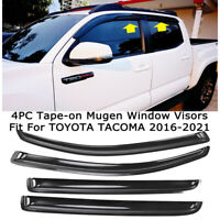 Fits TOYOTA TACOMA 2016-2021 Double Cab Rain Guard Window Visors Deflectors