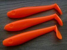 "RICK'S FISH ON- 5""/12.5cm PADDLE TAIL Soft Plastics ~ FLURO ORANGE"