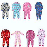 Boys Girls Disney & TV Character Jersey Pyjama Sleepsuit Nightwear Gift