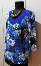 Immaculate Size S Blue Illusion Blue & White Cotton/Elastane Top