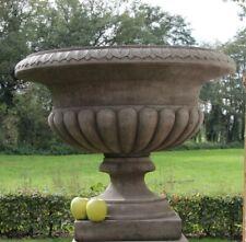 AMPHORE Schale Vase DERBY engl.Sandstein frostfest  42 cm  Ø 35cm Steinguss