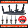 4x Genuine NGK Spark Plugs & 1x Ignition Coil for Mercedes Benz A140 A160 A190