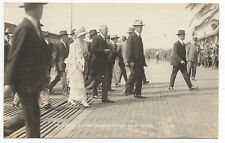1919 RPPC Postcard of President Woodrow Wilson and Wife arriving at San Diego