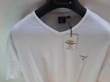 T-Shirt Aeronautica Militare, Neu mit Etikett in XL, V-Ausschnitt in weiß
