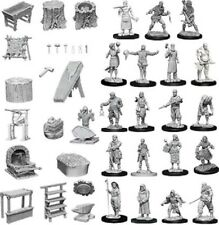 Pathfinder Deep Cuts Unpainted Miniatures: Townspeople & Accessories (NEW)