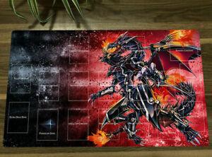 HOT Yu-Gi-Oh! Yugioh Red-eyes Darkness Dragon CCG TCG Game Play Mat & Free Bag