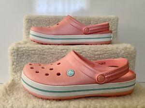 Crocs Unisex-Adult Crocband Clog- Men 7 Women 9 - Pink- Good Used Condition