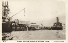 More details for scapa flow, orkney. salvage of german battleship baden # 13 by c.w.burrows.