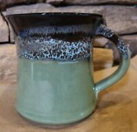 Neher Pottery Signed 2020 Art Studio Pottery Large Tea Cup Coffee Mug Green