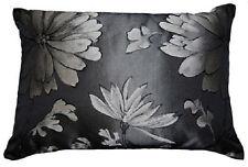 Giardino Black Floral Cushion Cover - 35cm x 50cm